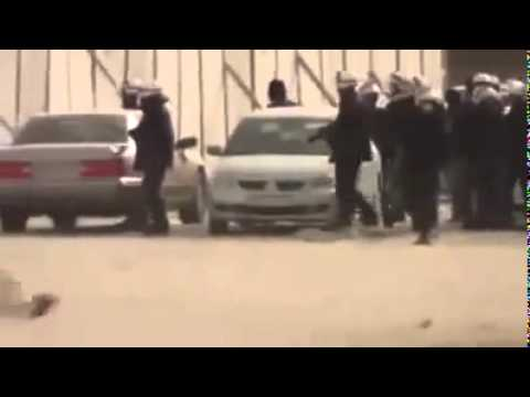 Bahrain police destroying property to make out it done by protesters