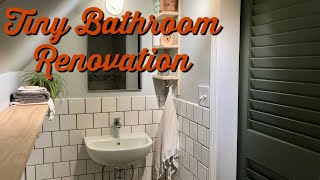 Before and after- Tiny bathroom renovation