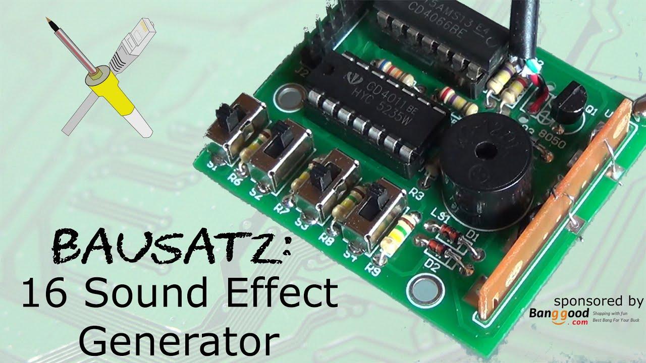 BitBastelei #200 - DIY 16 Sound-Effect Kit - YouTube