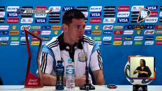 dxtv noticias la conferencia de prensa de lionel messi