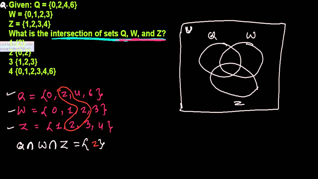 Intersection of three sets in venn diagram set theory integrated intersection of three sets in venn diagram set theory integrated algebra 27 ccuart Image collections