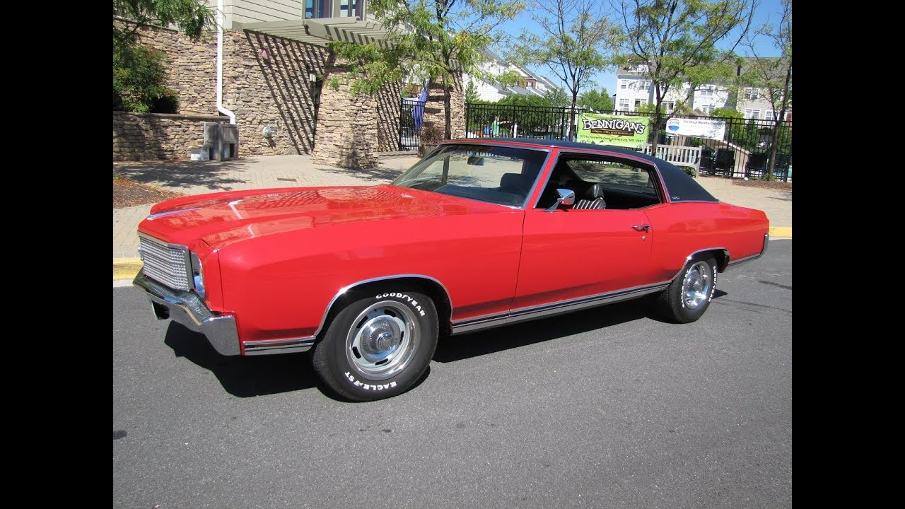 classic car for sale 1970 monte carlo eric 39 s muscle cars youtube. Black Bedroom Furniture Sets. Home Design Ideas