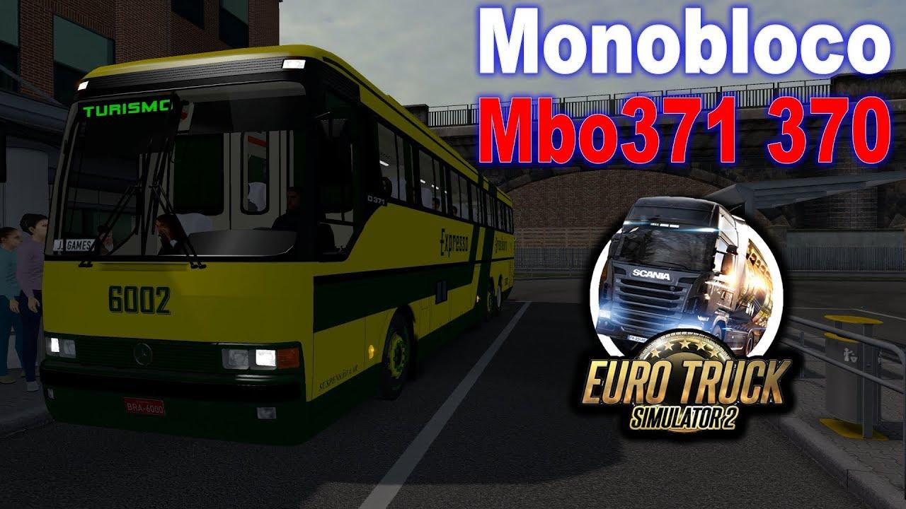 ETS2 1 34 | Bus Passenger Mod | Monobloco Mbo371 370 | ( G29 + Shifter +  Wheel Cam )