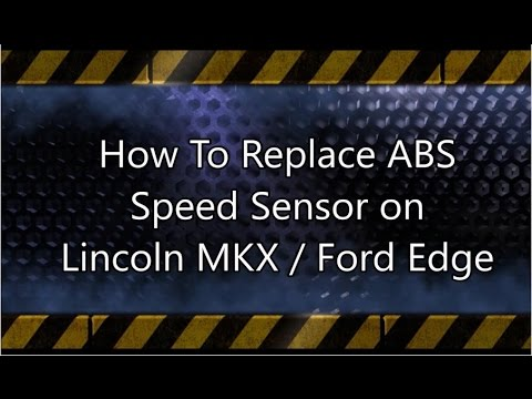 hqdefault how to replace abs speed sensor on lincoln mkx and ford edge youtube  at alyssarenee.co