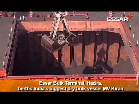 India's biggest dry bulk vessel, MV Kiran berths successfully at Essar Ports, Hazira