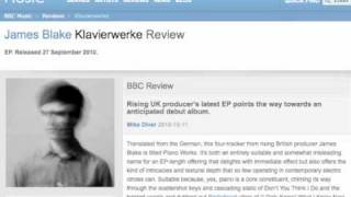 James Blake - Klavierwerke