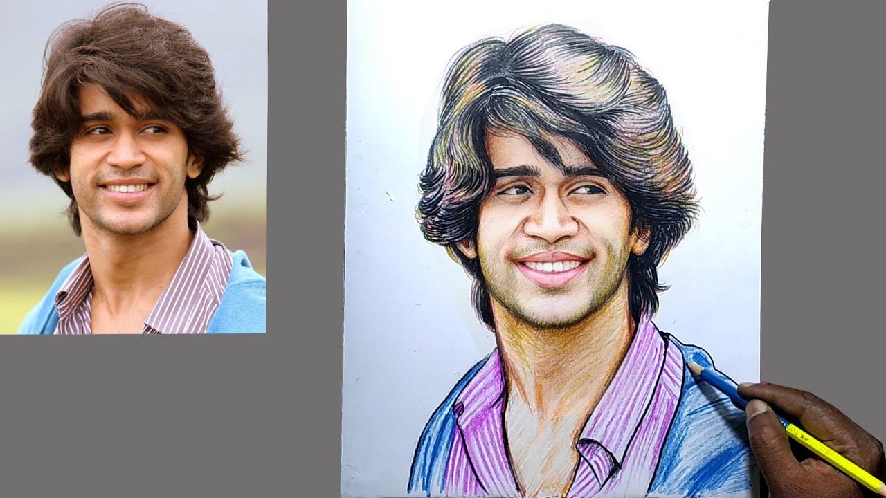 Bigg Boss Abhijeet Drawing / Bigg Boss 4 Telugu Abhijeet Painting / Abijeet Duddala Sketch