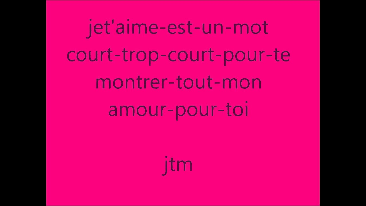 Poeme Damour Youtube