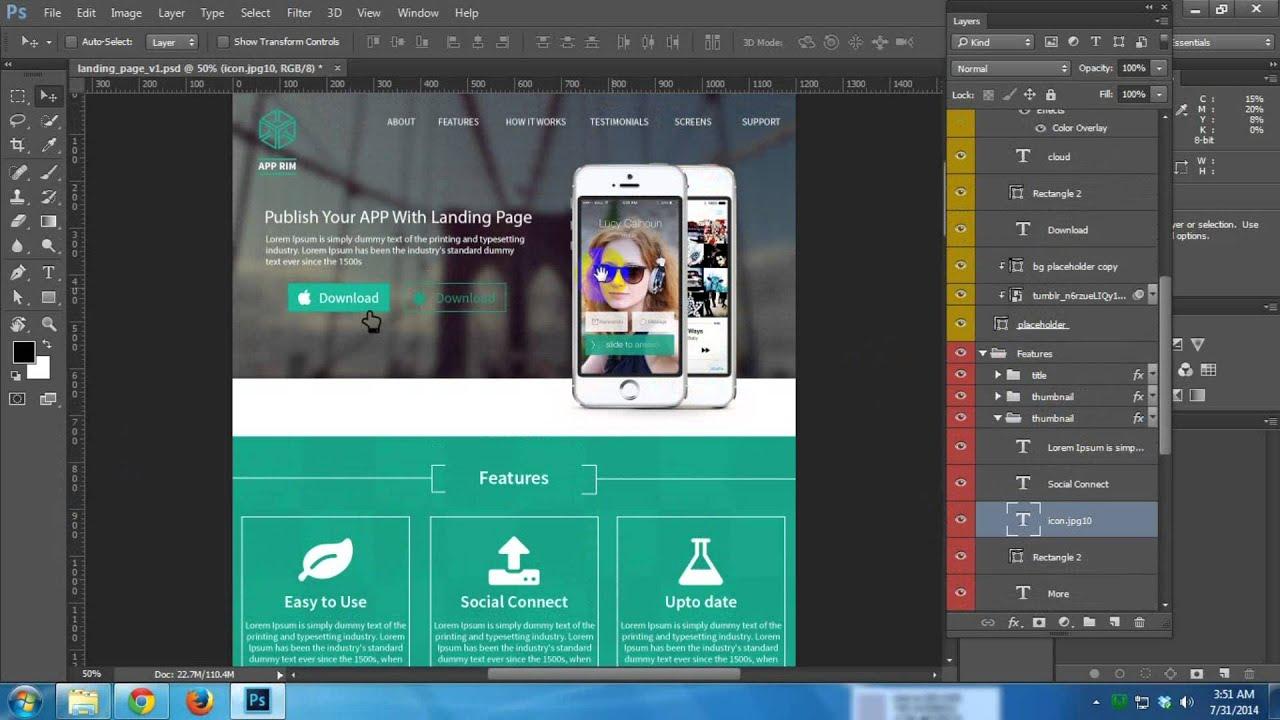 Using Photoshop Cc For Web Design Front End Development