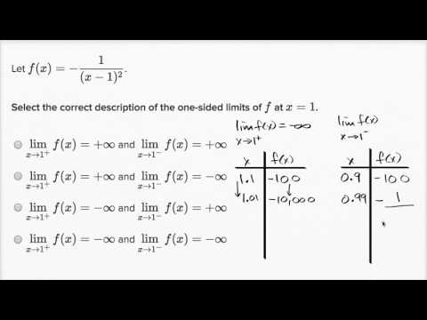 Example finding one sided unbound limits