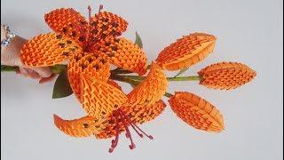 3D Origami Lily Flower V2 Tutorial | DIY Paper Lily Flower Home Decoration
