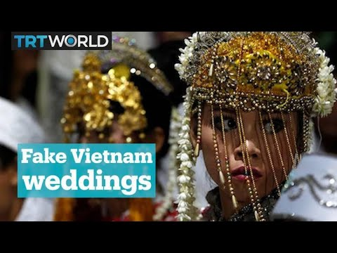 Brides, grooms and guests for rent in Vietnam