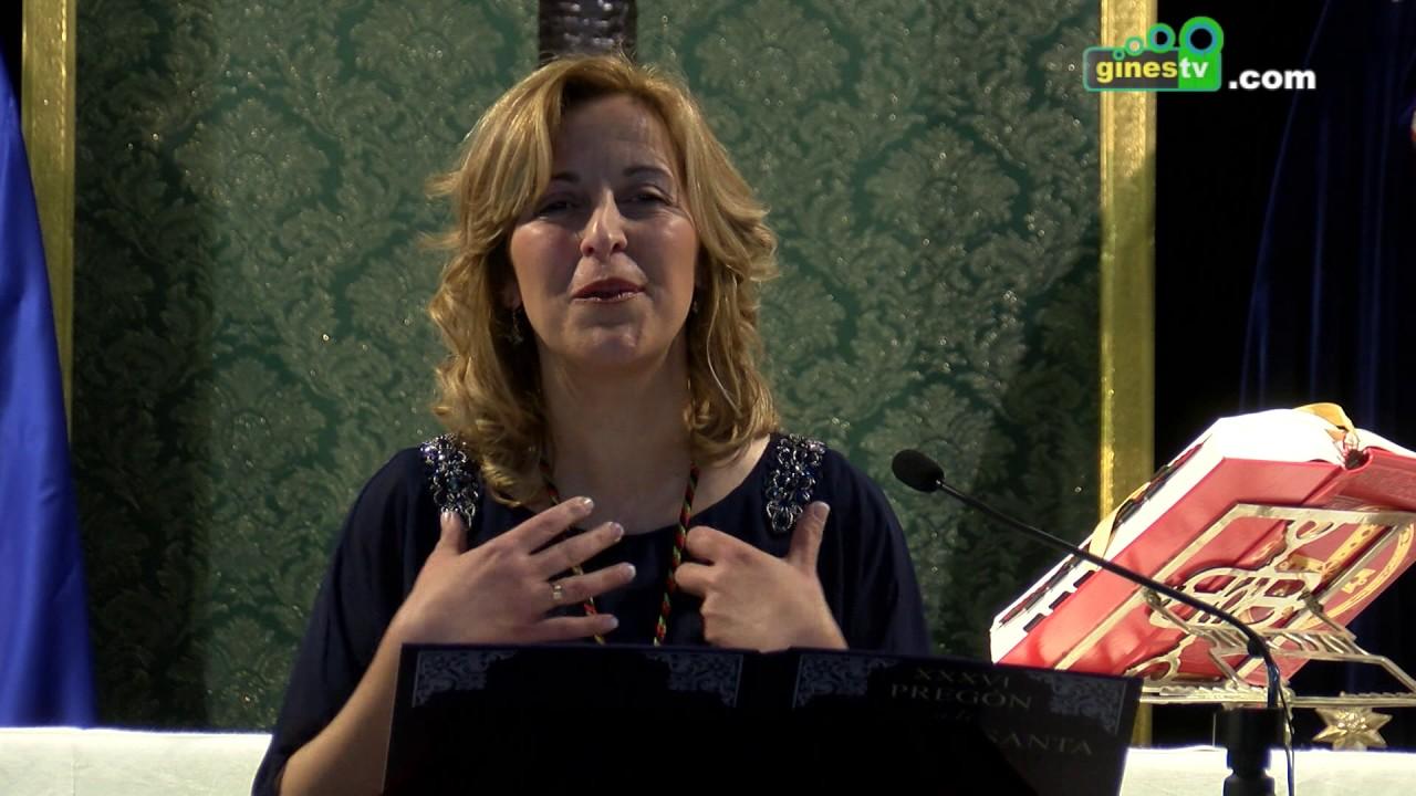 Rocío Mateos Palomar puso voz a la XXXVI Exaltación de la Semana Santa de Gines