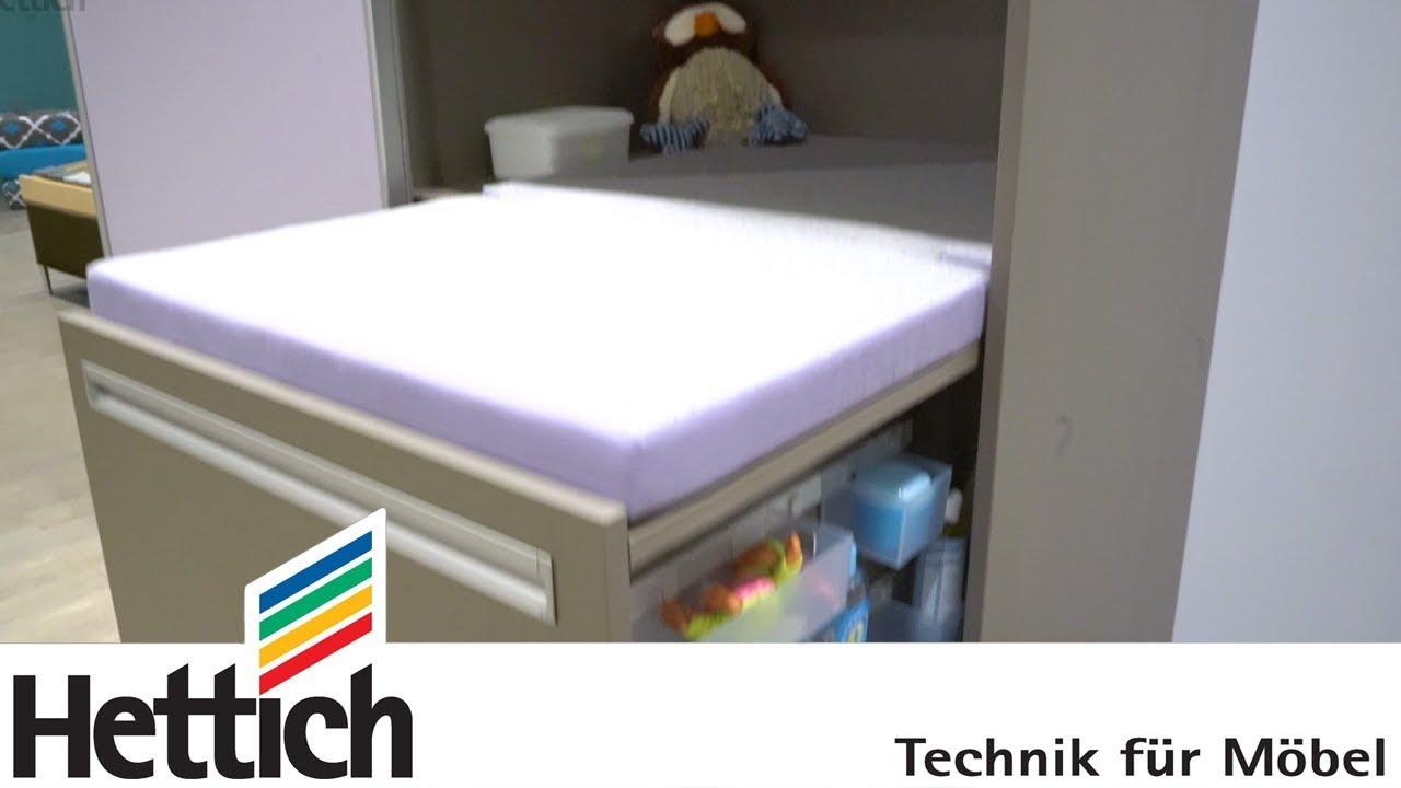 raum gewinnen der platzsparende schrank mit wickeltisch youtube. Black Bedroom Furniture Sets. Home Design Ideas