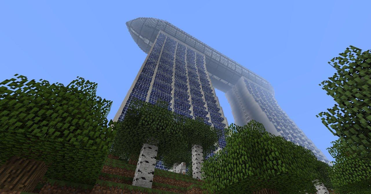Minecraft Modern Buildings Skyscrapers Part 1 Zeppelin
