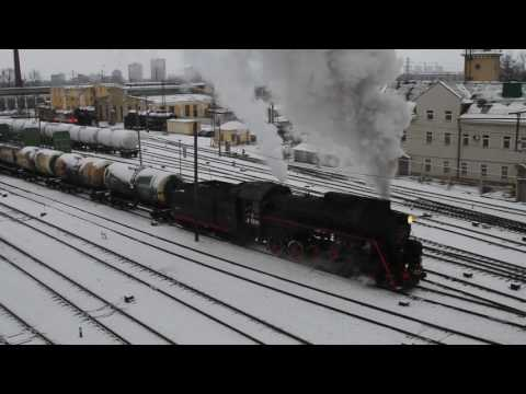 The steam locomotive L-5248, Russia, Saint-Petersburg, Depot St. Petersburg-Moscow-Sorting