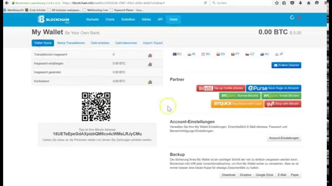 Bitcoin Wallet Einrichten