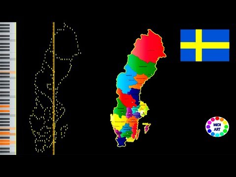 Musical map of Sweden - midi art [drawing]