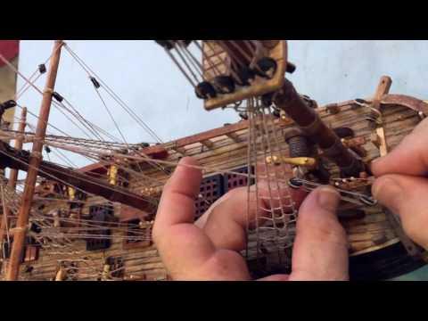 Head CAM HMS Bounty model construction video, POV Action CAM by ArtCase Restoration