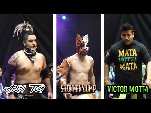 Ariki Toa Vs Shonnen Jump Vs Victor Motta // Triple Amenaza // Wrestling highlights