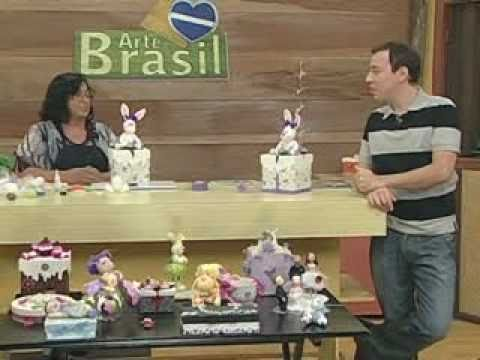 ARTE BRASIL -- ANGELA ROCHA -- COELHA EM BISCUIT (18/03/2011 - Parte 2 de 2)