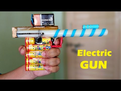 How to Make a Electric GUN using Motor at home