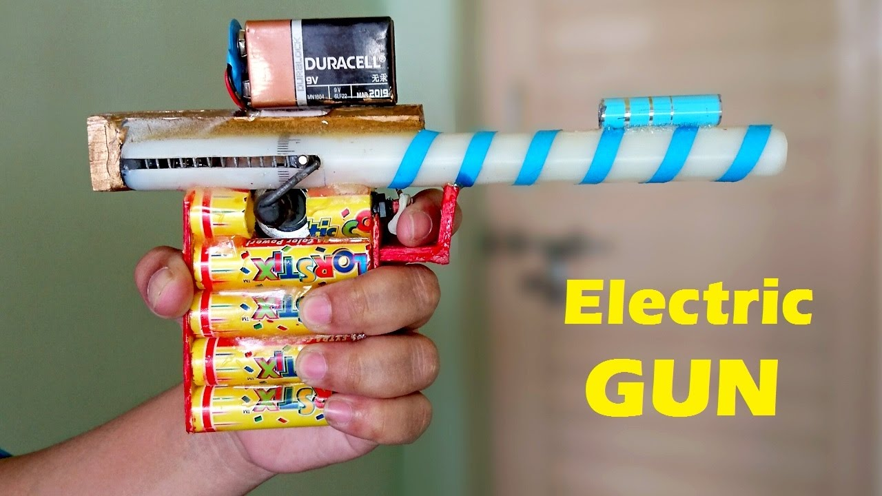 How To Make A Electric Gun Using Motor At Home Youtube Diy Foam Cutter Wiring Diagram