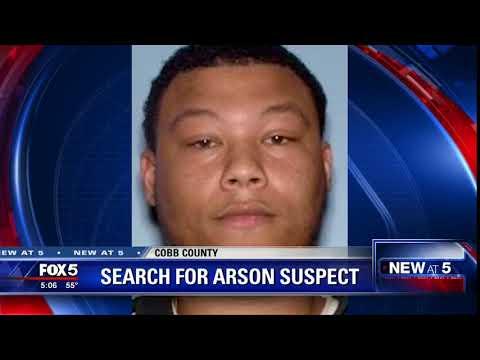 Search for arson suspect in Cobb County