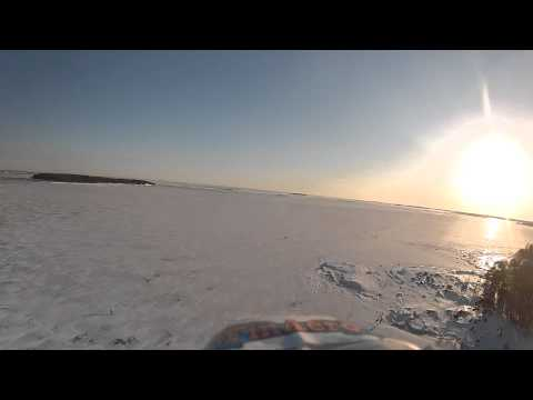 RC flying at winter time (Lauttasaari, Helsinki, Finland)