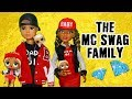 SWTAD LOL Families ! The MC Swag Family Raps While Cooking ! Toys and Dolls Pretend Play for Kids