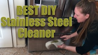 Homemade Stainless steel cleaner DIY, no chemicals