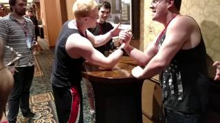SGDQ 2016 - Caleb Hart and Seak1ng arm wrestling match