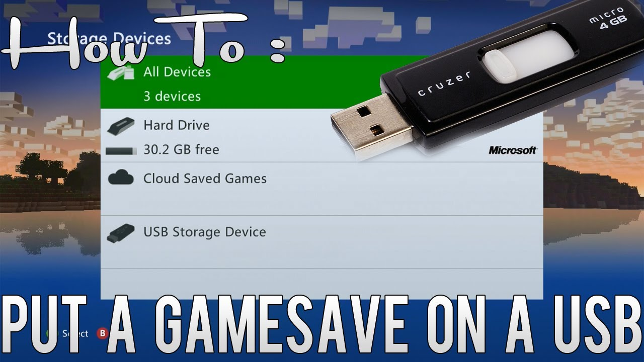How To Put A Gamesave Onto Your Usb Xbox 360 Youtube