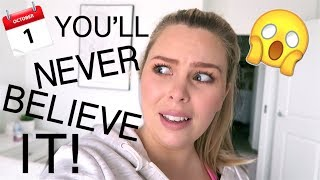 YOU'LL NEVER BELIEVE IT!! VLOGTOBER DAY 1