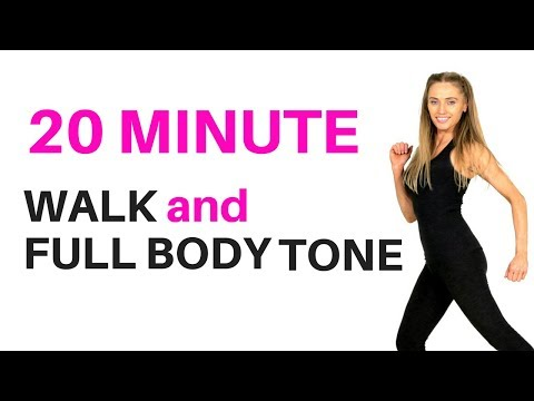 HOME WORKOUT - WALKING WORKOUT AND FULL BODY TONE - suitable for beginners workout and weight loss