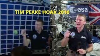 EXCLUSIVE - Astro-naught Tim Peak HOAX 2016