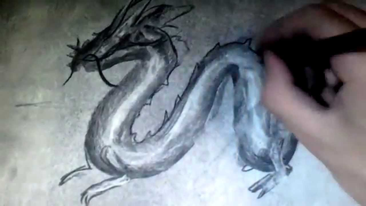 Dessins dragon chinois en 1 minute technique youtube - Dessins dragon ...