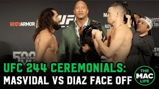 Jorge Masvidal vs. Nate Diaz Face Off | UFC 244 Ceremonial Weigh-Ins