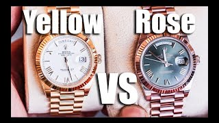 Yellow Gold vs Rose Gold (Day-Date)
