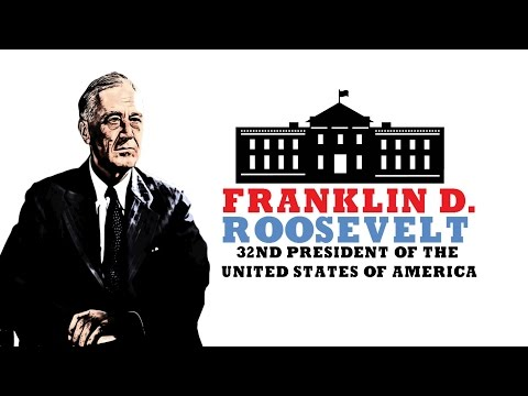 US History for Kids: Franklin D Roosevelt (Fun Facts) Watch a Biography on the 32nd President