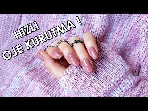 5 Yöntemle Ojeler Nasıl HIZLI Kurutulur? l 5 Ways To Dry Your Nails Fast!