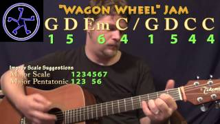 Wagon Wheel Jam - 1564-1544 in G Major - Acoustic Guitar Instrumental Track