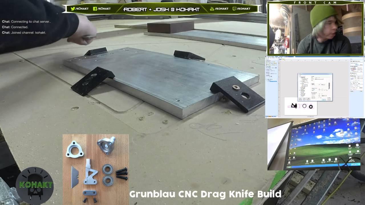 Grunblau CNC Drag Knife Part 1!