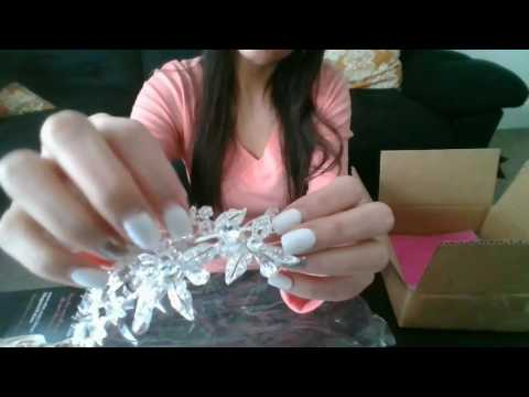 ASMR- Unboxing and tapping (LOWER VOLUME)