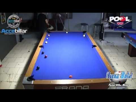 Billiards Pool Combo 6 Partida No 3 Campeón Panamericano Rubén Bautista vs. David Mireles VTS 01 1