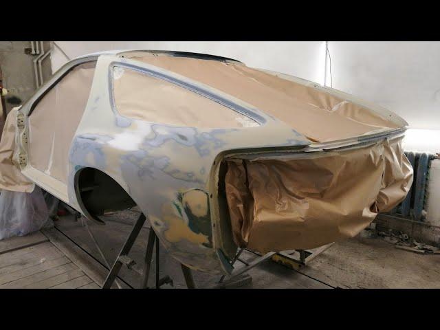 Грунтуем Porsche 928 . Покраска следующий этап )))