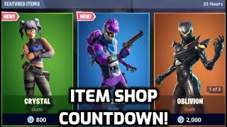 *New* Fortnite Crystal Skin! (Item Shop Countdown Live)