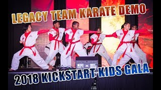 Legacy Team Karate Demo at 25th Anniversary Gala