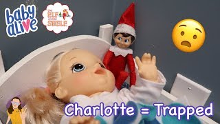 Baby Alive Charlotte Gets Trapped by Elf on the Shelf! | Kelli Maple