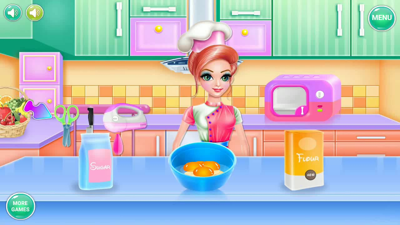 Barbie Cooking Trifle Cartoon Game Video For Kids